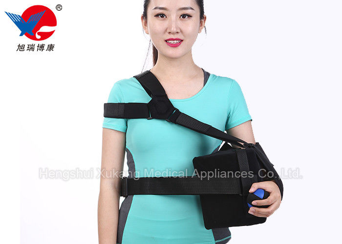 Black Elastic Shoulder Support Strap Promoting Recovery Preventing Re - Injury