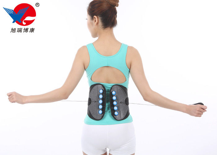 Outdoor Black Waist Support Brace , Medical Orthopedic Back Brace With CE FDA